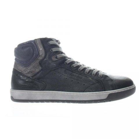 Sneaker Alta Uomo Nero Giardini in Pelle Nera - A901230U100
