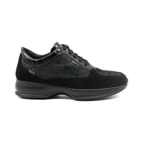 Sneaker Donna Igi&Co in Camoscio Nera - 4144500