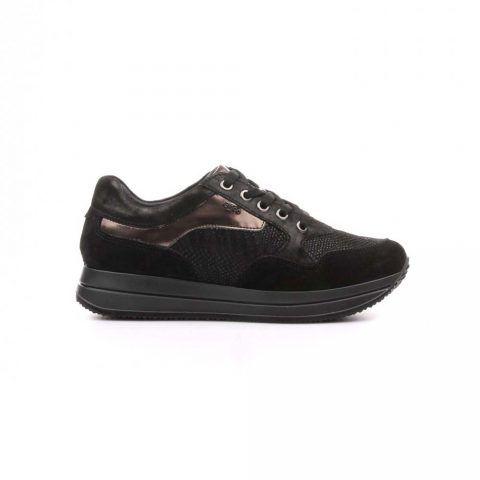 Sneaker Donna Igi&Co in Camoscio Nera - 4145011