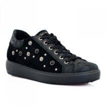 Sneaker Donna Igi&Co in Camoscio con Borchiette Nera - 4150700