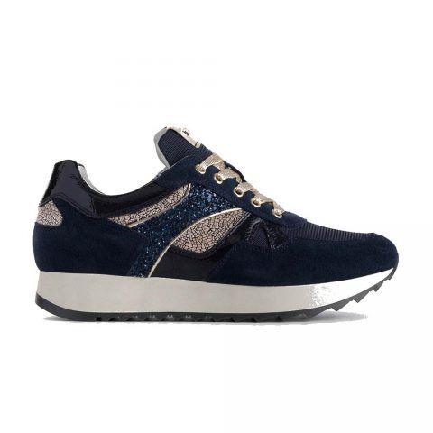 Sneaker Donna Nero Giardini in Camoscio Blu - A908900D207