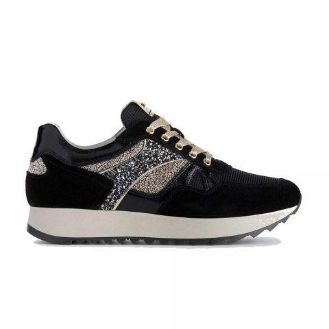 Sneaker Donna Nero Giardini in Camoscio Nero - A908900D100