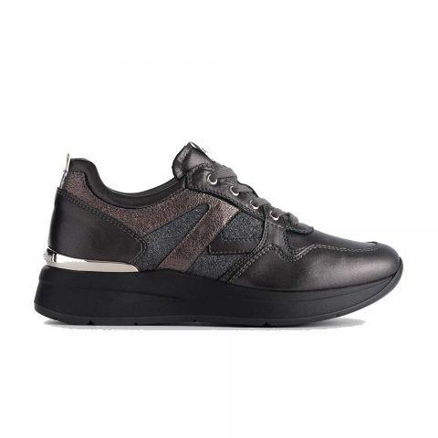 Sneaker Donna Nero Giardini in Pelle Antracite - A908893D101