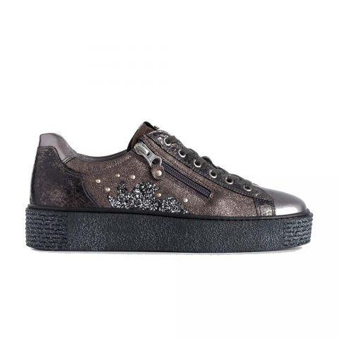 Sneaker Donna Nero Giardini in Pelle Antracite - A908963D101