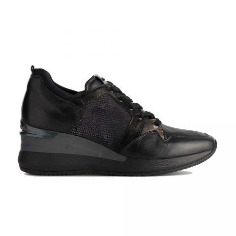 Sneaker Donna Nero Giardini in Pelle Lucida Nera - A908851D100