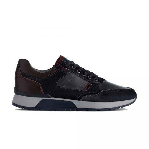 Sneaker Uomo Nero Giardini in Camoscio Blu - A901180U200