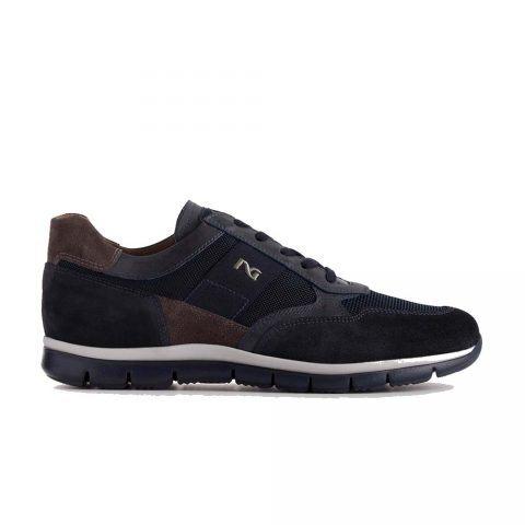 Sneaker Uomo Nero Giardini in Camoscio Blu - A901211U200
