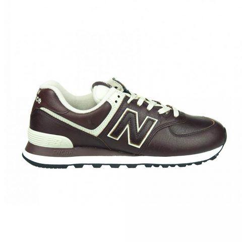 Sneaker Bassa Uomo New Balance in Pelle Marrone - NBML574LPB