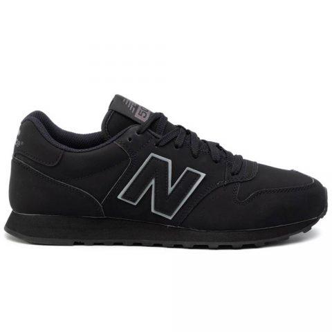 Sneaker Bassa Uomo New Balance in Tessuto Sintetico Nera - NBGM500TRB