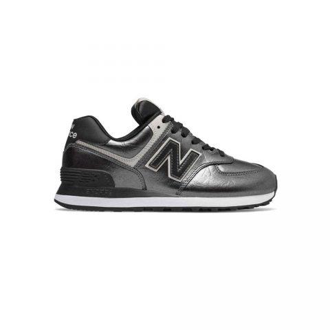 Sneaker Donna New Balance Grigia Metal in Pelle Sintetica - NBWL574WNF