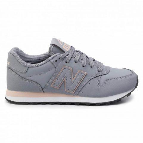 Sneaker Donna New Balance Grigia e Rosa in Pelle Sintetica - NBGW500SMS