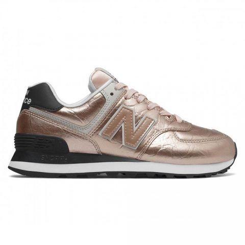 Sneaker Donna New Balance Oro Rosa in Pelle Sintetica - NBWL574WER