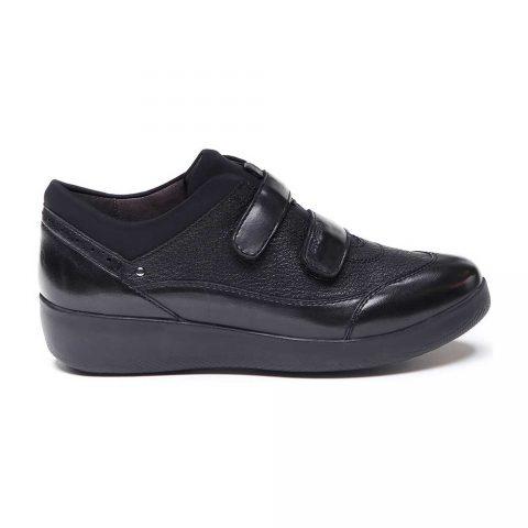 Sneaker Donna Stonefly Paseo IV in Nappa Nera - 212053000