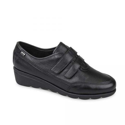 Sneaker Donna Valleverde in Pelle con Strappo Nera - 36387