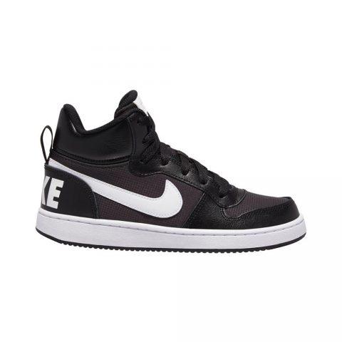 Sneaker Ragazzo Nike Court Borough Mid PE Nera - BV1607001
