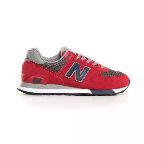 Sneaker Uomo New Balance in Camoscio Rosso - NBML574FNB