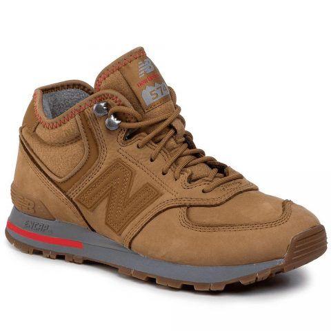 Sneaker Uomo New Balance in Pelle Marrone - NBMH574REB
