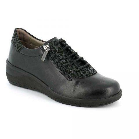 Sneaker Elegante Donna Grunland Dape Nera Leopardata - SC472868