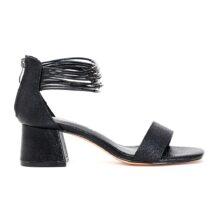 Sandalo Donna Cafè Noir in Pelle Nero - GLB999010