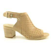 Sandalo Donna Nero Giardini in Pelle Champagne - E012290D439