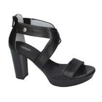 Sandalo Donna Nero Giardini in Pelle Nera - E012210D100