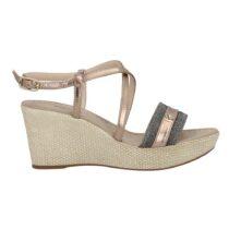 Sandalo Donna Nero Giardini in Pelle Rame - E012380D327