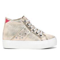 Sneaker Alta Donna Cafè Noir con Strass Argento - GDN911204