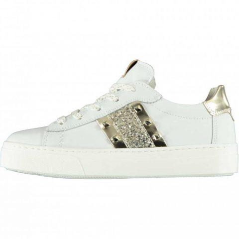 Sneaker Bambina Nero Giardini Teens in Pelle Bianca - E031500F707