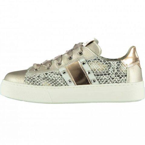 Sneaker Bambina Nero Giardini Teens in Pelle Pitonata - E031520F725