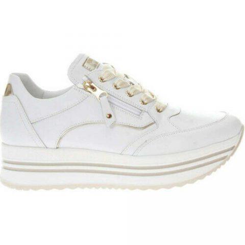 Sneaker Donna Nero Giardini in Pelle Bianca - E010560D707