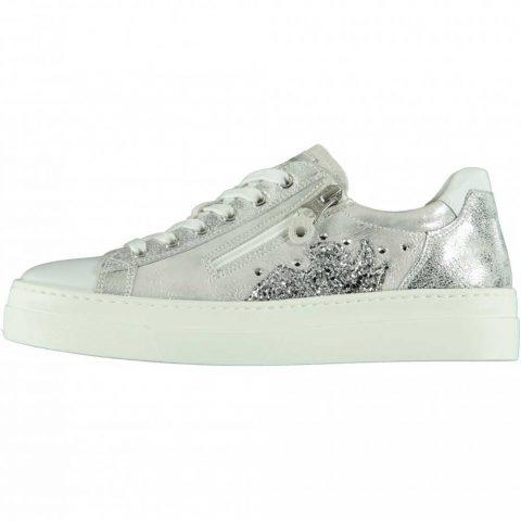 Sneaker Donna Nero Giardini in Pelle Bianca Luxury - E010660D707