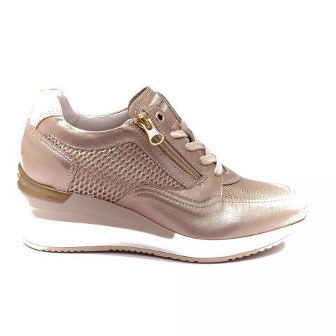 Sneaker Donna Nero Giardini in Pelle Rosa Antico - E010466D671