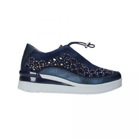 Sneaker Donna Stonefly Cream 22 Ocean Blu - 213820144
