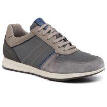 Sneaker Uomo Geox in Camoscio Antracite - U02H5C02214C9004