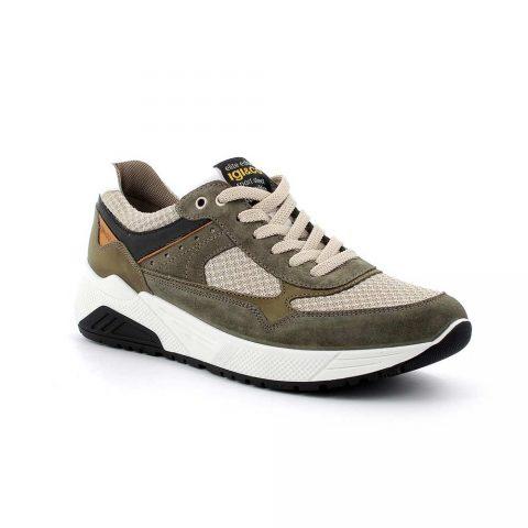 Sneaker Uomo Igi&Co in Camoscio Verde Militare - 5131922