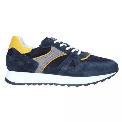 Sneaker Uomo Nero Giardini in Camoscio Blu - E001500U207