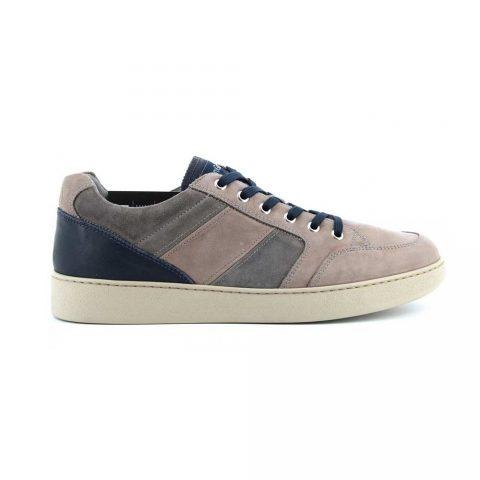 Sneaker Uomo Nero Giardini in Camoscio Cenere - E001563U119