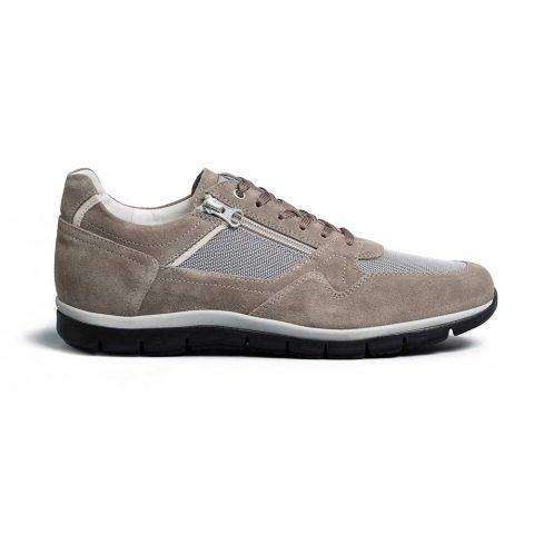 Sneaker Uomo Nero Giardini in Camoscio Grigia - E001475U106