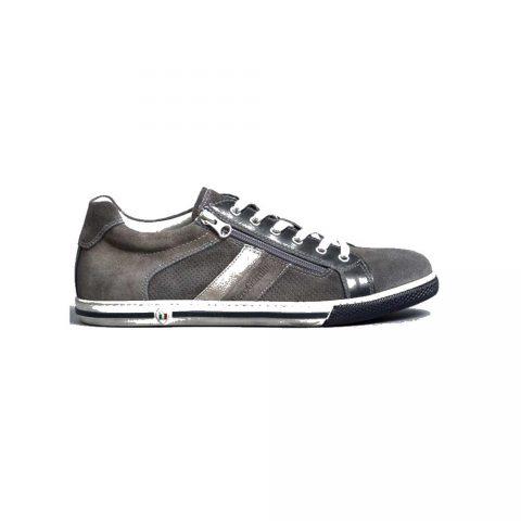 Sneaker Uomo Nero Giardini in Pelle Jeans - E001530U214
