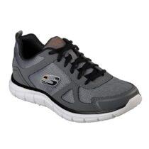 Sneaker Uomo Running Skechers in Tessuto Grigia - 52631CCBK
