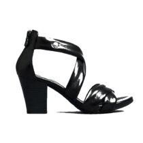 Sandalo Donna Nero Giardini in Pelle Nero - E012220D100
