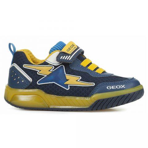 Sneaker Bambino Geox Inek Blu e Gialla - J029CB014BUC0657