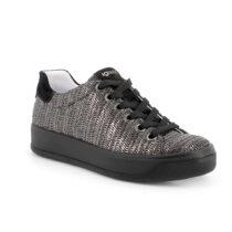 Sneaker Donna Igi&Co con Zeppa Intrecciato Nero - 5157422