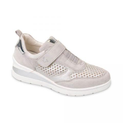Sneaker Donna Valleverde Suede Perla - 17149