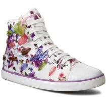 Sneaker Ragazza Geox J Ciak G. C Bianca Multicolore - J5204C000ANC1000