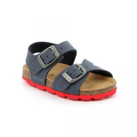 Sandalo Bambino Grunland Junior Aria Blu e Rosso - SB002540