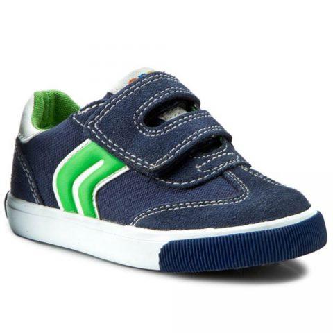 Sneaker Bambino Geox B Kilwi B Blu e Verde - B62A7E01022C4248