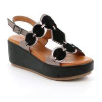 Sandalo Donna Grunland Faci Nero Fucile - SA2487I8