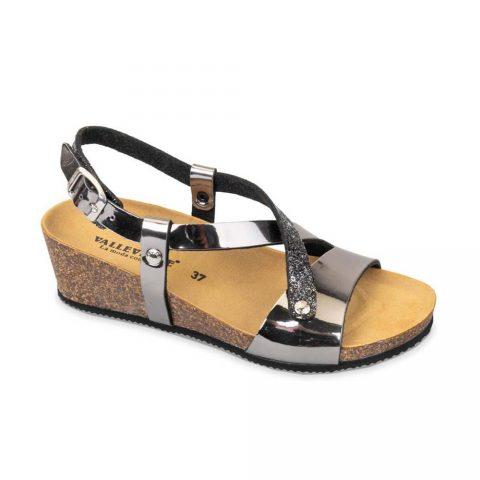 Sandalo Donna Valleverde Fussbett Antracite - G51398T