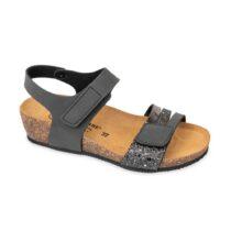 Sandalo Donna Valleverde Fussbett Nero - G51297S